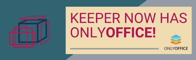 New KEEPER integration: OnlyOffice!