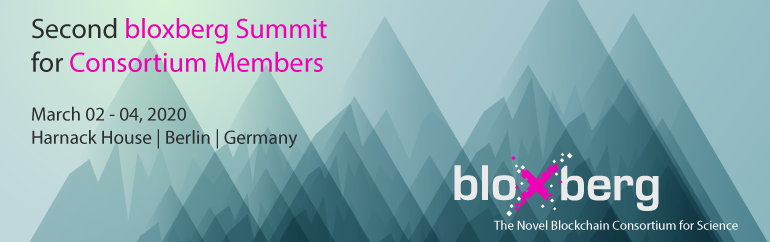 Stay tuned: second bloxberg Summit for Consortium Members