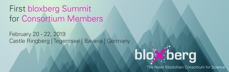 First bloxberg Summit for Consortium Members
