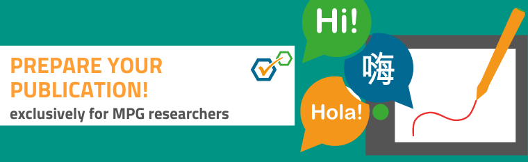 4 new products to help prepare your publication - exclusively for MPG researchers!